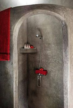 We love the minimalistic style of this bathroom and its strong, contrasting colours! ... Riad Mandalay, Marrakech, Morocco