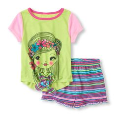 The Childrens Place - Your li'l flower child will get a good night's sleep in these comfy pjs!