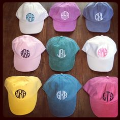 I LOVE hats, especially monogrammed ones!