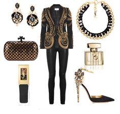 Look en oro y negro