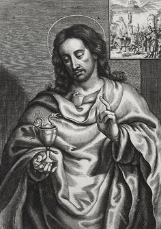 """British Library digitised image from page 296 of """"The Life of Our Blessed Lord & Saviour Jesus Christ. An heroic poem . also a prefatory discourse concerning heroic poetry. Catholic Pictures, Bible Pictures, John The Evangelist, Spiritus, British Library, Jesus Christ, Christianity, Lord, Statue"""