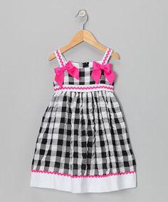Love this Black Plaid Rickrack Seersucker Dress - Toddler & Girls by Rosenau Beck on #zulily! #zulilyfinds