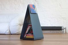 The home of interesting bookshelves, bookcases and things that look like them since 2007 Book Storage, Storage Shelves, Firewood Holder, Garden Office, Industrial Design, Bookshelves, Magazine Rack, Bookends, Furniture Design