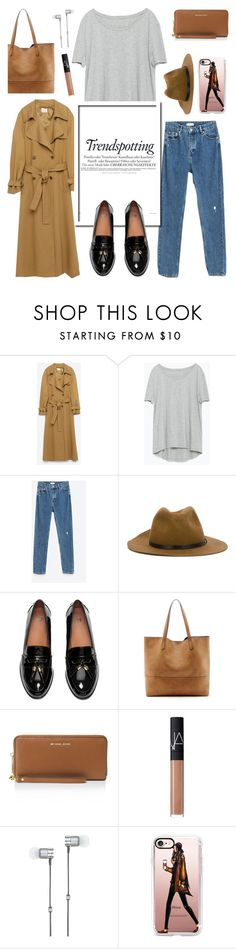 """""""Vermont Travel Outfit"""" by glamorous09 ❤ liked on Polyvore featuring Zara, Jakke, Melissa, Diesel, Sole Society, MICHAEL Michael Kors, NARS Cosmetics, Master & Dynamic, Casetify and Vermont"""