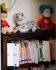 Love this organized home library-great way to teach about the public library