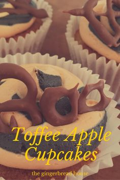 toffee apple cupcake