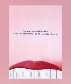 A really creative and hilarious poster design for a dentist.