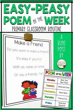 Easy-Peasy Poem of the Week Routine