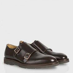 Paul Smith Shoes - Brown High-Shine Leather Pitt Shoes