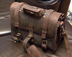 Saddleback Briefcase - 100 year warrantee - coffee brown - Extra large