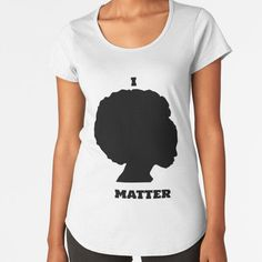 """""""I Matter"""" by Qsoul   Redbubble  This is a message showing the power of a black woman, stating that her life matters. This is not only aimed at injustices faced by black women, but also to all the black people, because she bears them all. Life Matters, Black People, Cotton Tote Bags, Black Women, Bears, Woman, T Shirt, Tops, Fashion"""
