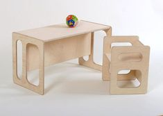 Children's table TIM and a children's chair CHARLIE in set for the modern children's room a great gift au wood - Web 2020 Best Site Diy Kids Furniture, School Furniture, Childrens Room, Kid Desk, Kid Table, Table And Chairs, Decoration, Wooden Toys, Etsy