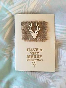 Stunning Handmade Hessian Christmas Cards | eBay