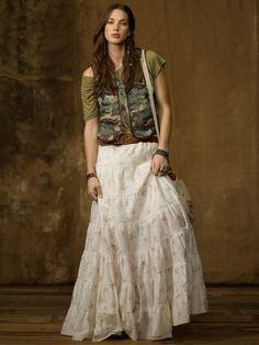 Tiered Prairie Skirt - Denim & Supply  Long Skirts - RalphLauren.com
