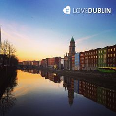 Blue skies and colourful buildings are mirrored across the in Stephen Gately, Love Ireland, Colourful Buildings, Blue Skies, City Break, Great Britain, Dublin, Places Ive Been, January