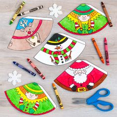 Christmas Craft: Colour In Christmas Cones by Kate Hadfield Designs Christmas Hanukkah, Christmas Paper, Christmas Colors, Simple Christmas, Winter Christmas, Christmas Crafts For Kids To Make, Christmas Activities For Kids, Christmas Decorations For The Home, Christmas Centerpieces
