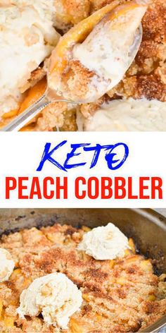 Tasty Keto peach cobble you CAN NOT stop eating! This simple ingredient keto recipe is easy to make and super yummy. Homemade not store bought keto low carb cobbler. Ketogenic Diet Meal Plan, Diet Meal Plans, Ketogenic Recipes, Low Carb Recipes, Diet Recipes, Healthy Recipes, Meal Prep, Quick Recipes, Smoothie Recipes