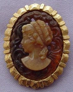 Vintage Amber Resin Cameo Brooch   Cameos- Jewelry & Etc.