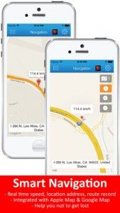 iphone gps route tracking