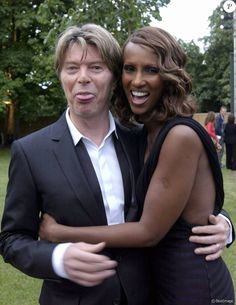 David (funny) and Iman (smiling)