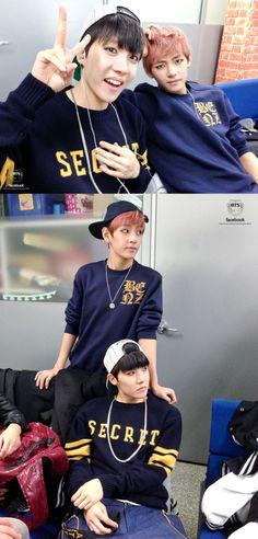 J-Hope & V at Inkigayo, backstage