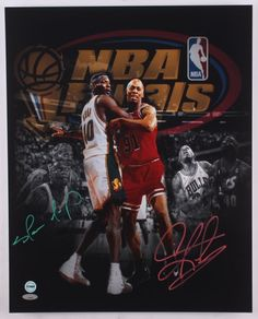 438875dcc25 Shawn Kemp and Dennis Rodman Signed Photo TriStar and FSG Authenticated 1