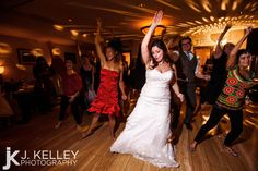 Bride surprised with flash dance at her Columbia MO Wedding Reception