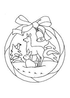 L'image des animaux de la forêt dans un cadre joliment décoré à colorier