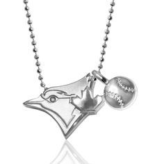 Toronto Blue Jays Alex Woo Little MLB with Mini Baseball Addition Sterling Silver Necklace