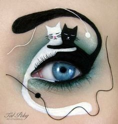 Most women tend to use a touch of mascara and a flash of eyeliner to make our eyes stand out - but one lady takes eye make-up to a whole new level. Make-up artist Tal Peleg has amazed the world (and u. Make Up Art, Eye Make Up, Halloween Make Up, Halloween Face Makeup, Halloween 2015, Halloween Pictures, Bat Eyes, Eye Makeup Designs, Makeup Ideas