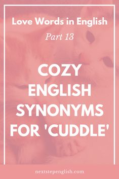 Love words in english part 5 expressive synonyms for seducer love words in english part 13 cozy english synonyms for cuddle romantic vocabulary m4hsunfo