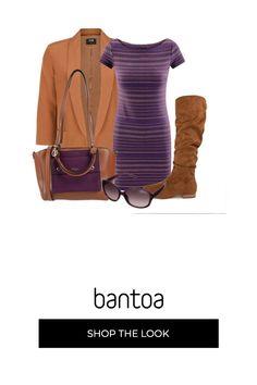 brand new ef29f d6a8a Viola e cuoio con semplicita   outfit donna Basic per tutti i giorni    Bantoa