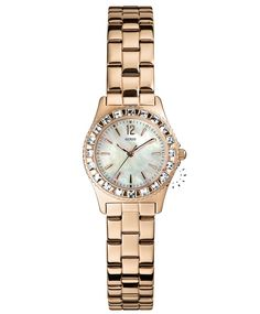 GUESS Crystal Rose Gold Stainless Steel Bracelet Η τιμή μας: 169€ http://www.oroloi.gr/product_info.php?products_id=33950