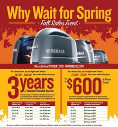 Yamaha's Why Wait for Spring Sales Event