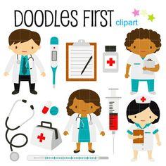 Little Doctors and Nurses Digital Clip Art for Scrapbooking