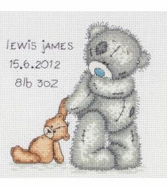 Maia Counted Cross Stitch Kit Tatty Teddy Birth Record, , hi-res