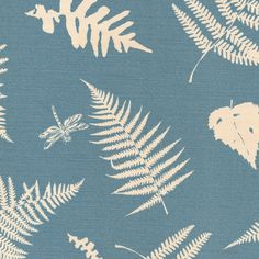 Fern & Dragonfly - Speedwell   Vanessa Arbuthnott Fabrics