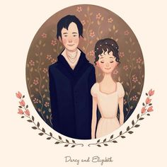 """In vain I have struggled, it will not do. My feelings will not be repressed. You must allow me to tell you how ardently I admire and love you"". - Jane Austen, Pride and Prejudice. ❤️ Ilustração de Diana Pedott - Z Vitamini Darcy And Elizabeth, Elizabeth Bennet, Zombies, Pride And Prejudice 2005, Jane Austen Novels, Creation Photo, Fanart, Family Illustration, Art Illustrations"