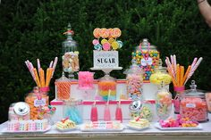 sugar rush party ideas | wedding # wedding sweet table # sweets # retro