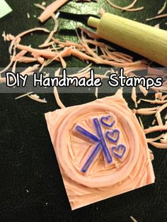 DIY Handmade Stamps by Katie Crafts - Crafting, Sewing, Recipes and More! #tutorial #howto #stamping  http://katiecrafts.com