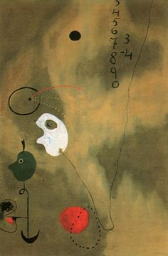 Joan Miro Calculation 1925 -