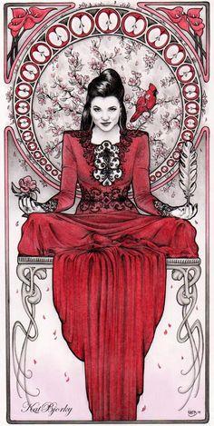 Evil Queen | Regina Mills | Art Nouveau by Kat Bjorky