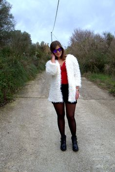 Firmoo sunglasses , coat Romwe, dress Shein