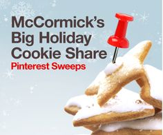 McCormick's Big Holiday Cookie Share...these look so good!  Sugar cookies are my absolute favorite!