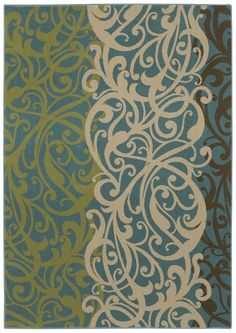 Love this rug - HGTV Home line: Inspire -- These are my colors -- the blue and cream and brown are already in my living room....