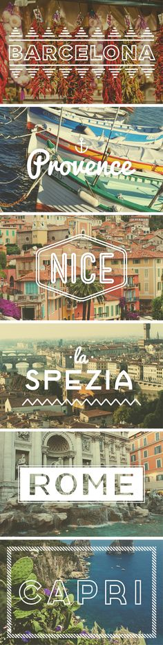 An itinerary worthy of your bucket list. #mediterraneancruise (note: La Spezia image is actually Firenze)