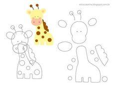13 Moldes y tutorial para hacer muñecos de animalitos de la selva ~ Mimundomanual