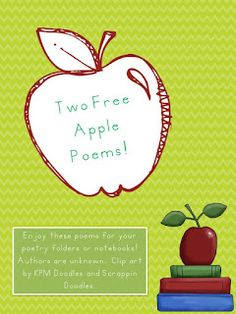 Classroom Freebies: 2 Apple Poems