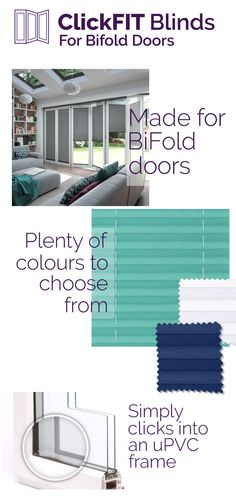 Discover our ClickFIT Blinds for BiFold Doors. Brand new & Exclusive!