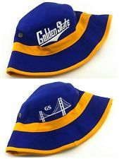 new concept ec9be fc274 Golden State New GS Bucket Skyline Fishing Bridge Warriors Blue Gold Era  Hat Cap